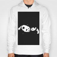 pandas Hoodies featuring Pandas by Elena Medero