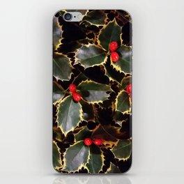 Ilex aquifolium iPhone Skin