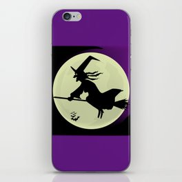 Witch and the Moon iPhone Skin