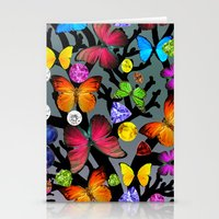 butterfly Stationery Cards featuring butterfly by mark ashkenazi