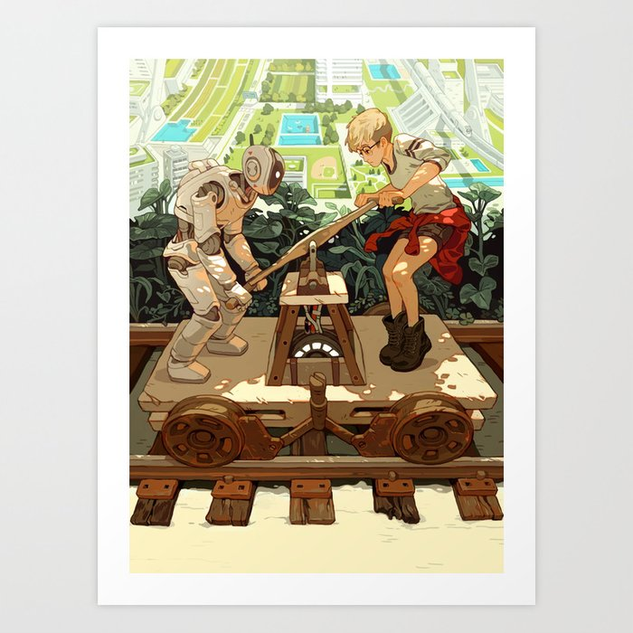 """""""Don't Worry, Smart Machines Will Take Us With Them"""" by Sachin Teng for Nautilus Art Print"""