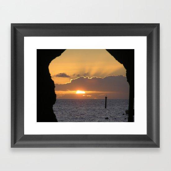 Maui Hawaii - Hana Beach Sunset Framed Art Print