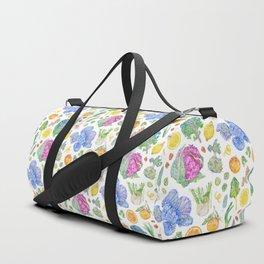 Winter Harvest Pattern White Duffle Bag