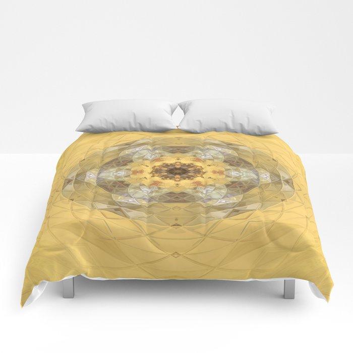 Golden Octavian Mandala Comforters
