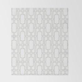 Simply Mid-Century Retro Gray on White Throw Blanket