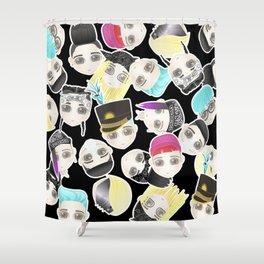 BIGBANG Collage (Black) Shower Curtain
