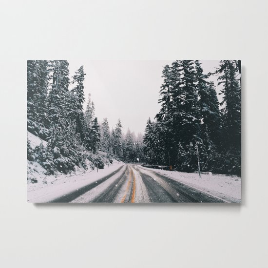 Winter Drive Metal Print
