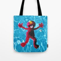 elmo Tote Bags featuring Elmo by DandyBerlin