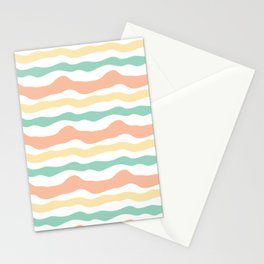 Modern wavy stripes pattern Stationery Cards