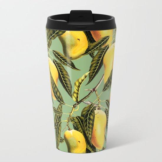 Mango Season #society6 #decor #buyart Metal Travel Mug