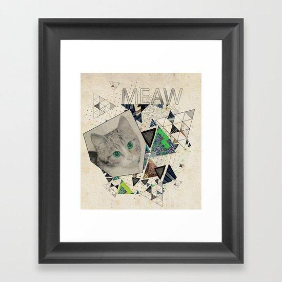 ░ MEAW ░ Framed Art Print
