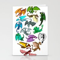 dragons Stationery Cards featuring Dragons by prpldragon