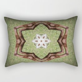 Brown cow kaleidoscope #10 Rectangular Pillow