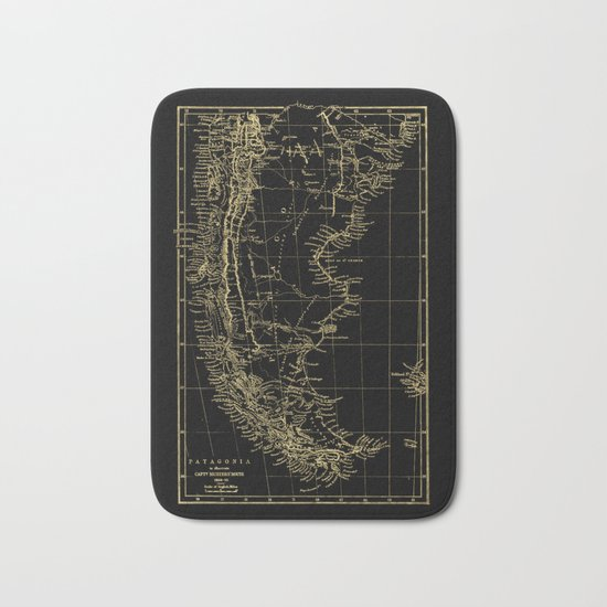 Patagonia - Black and Gold Bath Mat