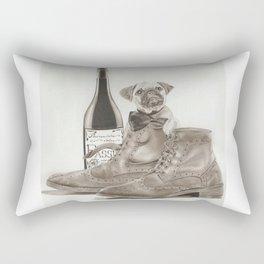 PUG IN BOOTS Rectangular Pillow