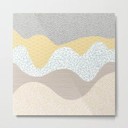 Abstract Textured Mountains Metal Print