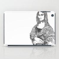 mona lisa iPad Cases featuring Mona Lisa by April Gann