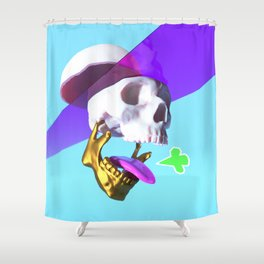 Pop skull Shower Curtain