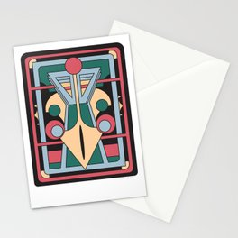 Pavo Totem - Art Deco Peacock Design Stationery Cards