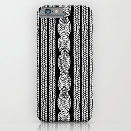 Cable Stripe Black iPhone Case