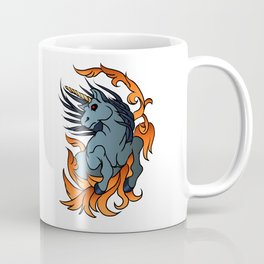 unicorn old school tattoo. Coffee Mug