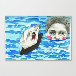 Monster from the deep Canvas Print