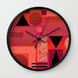 GEO-1 | red orange Wall Clock