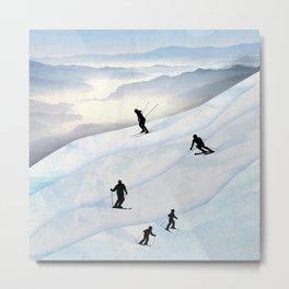 Skiing in Infinity Metal Print