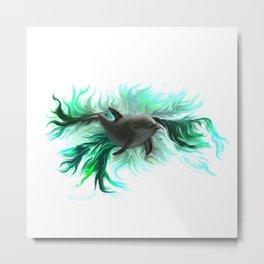 Dolphin Baby Metal Print