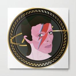 D. Bowie Deadfamous Illustrations Metal Print