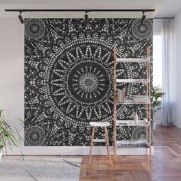 Ebony Lace Mandala Pattern Wall Mural