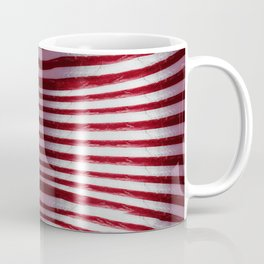 Red and White Organic Rib Cage Coffee Mug
