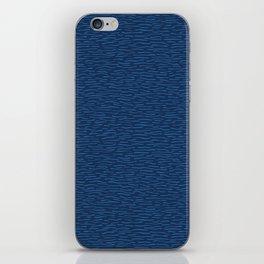 Blue Aqua Water Waves Vector Pattern Seamless Background iPhone Skin