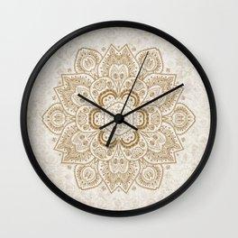 Mandala Temptation in Cream Wall Clock