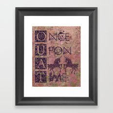 Once Upon A Time - AWESOME TV Show Framed Art Print