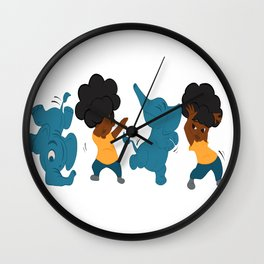 She's Got the Moves Wall Clock