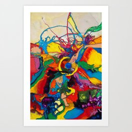 The Disintegration of a Highly Colored Fish Eye Art Print