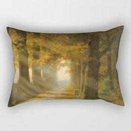 Early Morning Light, Autumn landscape painting by Max Ernst Pietschmann Rectangular Pillow