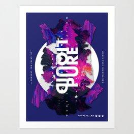 Pure Liquid Imagination : Concept 2 Art Print