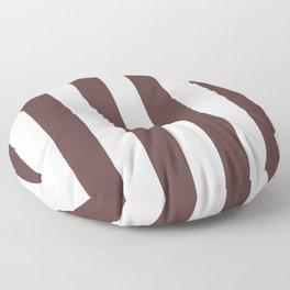 Dark Brown Granite and White Wide Vertical Cabana Tent Stripe Floor Pillow