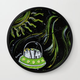 Cats in Outer Space Wall Clock