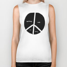New baby peace flag Biker Tank