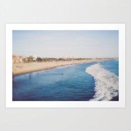 Beach Day at Santa Monica Art Print