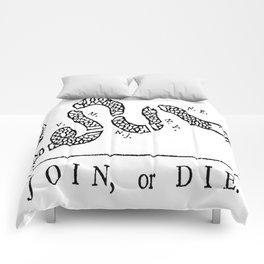 Vintage poster - Join, or Die Comforters
