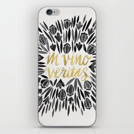 In Wine, There is Truth – Black & Gold iPhone Skin