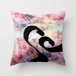 Black Hole Line Throw Pillow