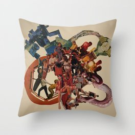 planetary obsolescence Throw Pillow