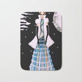 Ethereal Beauty Fashion Illustration By James Thomas Ryan Bath Mat