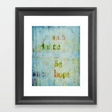 words 2 Framed Art Print