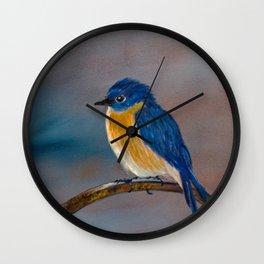 Momma's Blue Bird Wall Clock